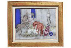 Horses Feeding by Felix Varla on OneKingsLane.com  Love this!  2,229.00