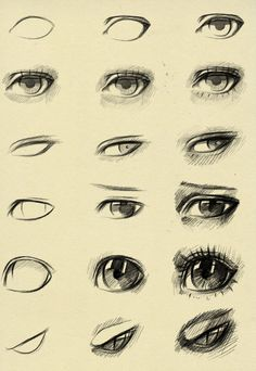 Eyes reference by ryky on @DeviantArt