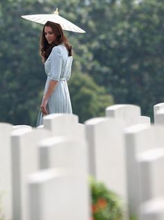 The Duke and Duchess visit the Kranji Commonwealth War Cemetery where they laid a  wreath made of local flowers and signed the visitors book. September 13th 2012.