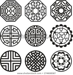 Find Korean Traditional Symbol Vector Image stock images in HD and millions of other royalty-free stock photos, illustrations and vectors in the Shutterstock collection. Thousands of new, high-quality pictures added every day. Pattern Art, Pattern Design, Korean Crafts, Nagel Stamping, Motif Oriental, Korean Tattoos, Korean Design, Chinese Patterns, 3d Laser