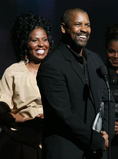 """""""Man gives you the award, but God gives you the reward."""" --Denzel Washington Denzel & Pauletta Pearson Washington Pictures - Apollo Theater Fourth Annual Hall Of Fame Induction Ceremony Actor Denzel Washington, Black Celebrity Couples, Afro, Famous African Americans, Man On Fire, Apollo Theater, Michael Ealy, John David, Black Actors"""