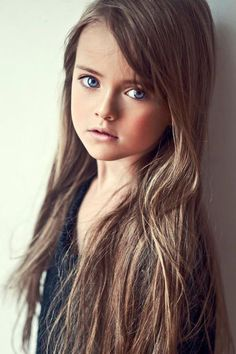 Kristina Pimenova Russian Child Model - I LOVE the long chocolate brown hair and her eyes