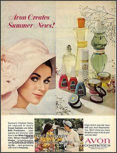 1967 AVON COSMETICS AD~Make-up~Cream Sachet~Nail Polish