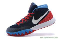 tenis de marca barato 705277-102 DK Azul/Vermelho/Branco Nike Kyrie 1 Masculino