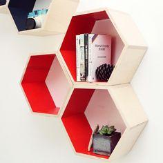 Orange Hexagon Shelf