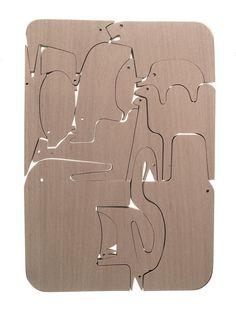 "Wood Puzzle ""Animali"" by Enzo Mari, 1957"