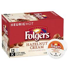 Folgers Hazelnut Cream Flavored Coffee KCup Pods for Keurig KCup Brewers Pack of 6 >>> Visit the image link more details. (This is an affiliate link) Folgers Coffee, Coffee K Cups, Coffee Pods, Coffee Time, Ocean Spray Cranberry, Sugar Cubes, Blended Coffee, Coffee Machine, Keurig
