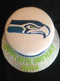 Awe Inspiring 132 Best Seahawks Cakes Images In 2020 Seahawks Cupcake Cakes Cake Birthday Cards Printable Trancafe Filternl