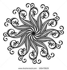 Mandala Black And White Stock Photos, Images, & Pictures | Shutterstock