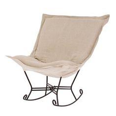 Tyler Dillon Prairie Linen Natural Rocking Chair Atg4334057