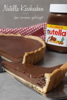 Schokoladiger Nutella Käsekuchen der immer gelingt #Nutella #Käsekuchen #NutellaKäsekuchen Food Platters, Chef Recipes, Pie, Desserts, Chocolate, Baking, Easy Peasy, Party Ideas, Beauty