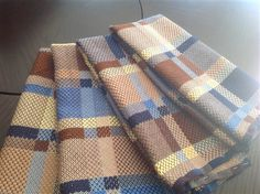 Summer & Winter Towels - Media - Weaving Today. There is something appealing about this color scheme...