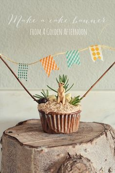 Let's Throw a Party: How to make a banner for a cake « A Golden Afternoon: Simplified Home Living How To Make Banners, How To Make Cake, Diy Birthday Banner, Birthday Cake, Washi Tape Diy, Washi Tapes, Baby Shower Deco, Cake Banner, Decoration Inspiration