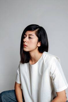 Daniela Andrade wearing sustainable and ethical clothing from New Classics Studios. Based in Edmonton, Alberta, Canada.