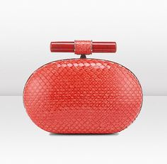 #Jimmy Choo CALISTA Anaconda Evening Clutch with Stone Detail
