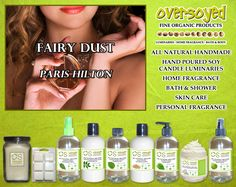 Fairy Dust for Women (Compare To Paris Hilton®) Product Collection - Sparkling aromas of Processo, with pink peony and orange blossom, while the heart blooms with spring gardenia, peach nectar and lotus. The base notes incorporate patchouli, cashmere, musk and vanilla cream. #OverSoyed #FairyDust  #ParisHilton #Candles #HomeFragrance #BathandBody #Beauty