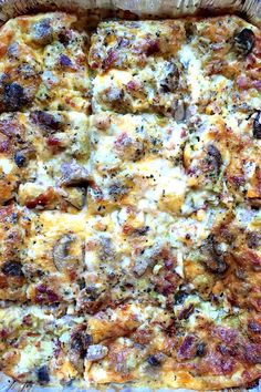 Buttering the bread before adding to the pan is the secret to this Make Ahead Breakfast Casserole from @sandycoughlin