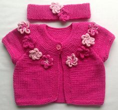 Baby Cardigan Sweater Flower Cardigan Sweater by CJsHandknits, £31.97 Great value...excellent quality!!