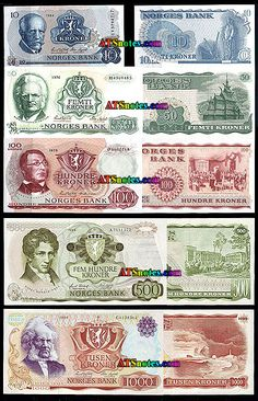norway currency | Norway banknotes - Norwey paper money catalog and Norwegian currency ...