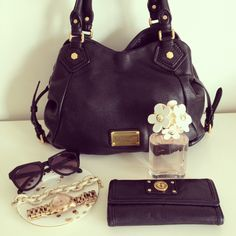 Marc by Marc Jacobs Classic Q Fran Handbag & Totally Turnlock Trifold Wallet, Daisy by Marc Jacobs perfume