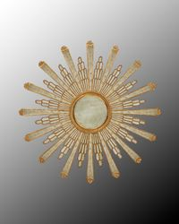 """Make a room """"pop"""" with this gorgeous """"Stella Starburst"""" eglomise mirror. Measures 50"""" diameter. For more info, please go to  youboutiques.com. #homefurnishings#homedecor#mirrors#You!Boutiques."""