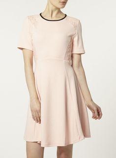 Photo 3 of Blush lace waffle dress