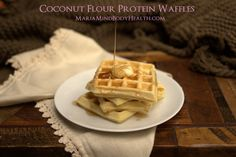 low carb waffle, coconut flour waffle, paleo waffle, KETO WAFFLES - Wilson is Home Low Carb Waffles, Gluten Free Waffles, Pancakes And Waffles, Low Carb Bread, Low Carb Keto, Low Carb Recipes, Paleo Pancakes, Paleo Bread, Protein Pancakes
