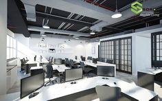 Our office interior design mottos are clutter-free with optimum space utilization and creating effective and efficient working environment. Come and visit our website to see more of our commercial interior design portfolios!