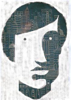 26 / Nahuel Rollan / Ciudades / from: La vuelta al mes en 30 ilustradores