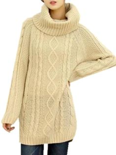White Cable Knit Round Neck Sweater #jumper #winter #comfy #cute ...