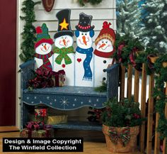 The Winfield Collection - Snowman Bench Pattern Christmas Yard Art, Christmas Yard Decorations, Christmas Wood Crafts, Snowman Crafts, Christmas Signs, Outdoor Christmas, Christmas Snowman, Christmas Projects, All Things Christmas