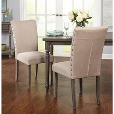 Simple Living Burntwood Parson Chair (Set of 2)