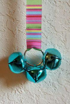 Door Bells For Your Doggie Multicolor Stripes by CanineKingdomOK, $13.99
