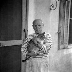 Picasso et son chat