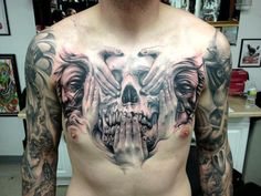 Black and Gray Tattoo by Carl Grace Tattoos, Las Vegas