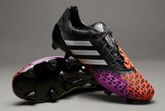 SIZE 9 adidas Predator LZ TRX FG SL Boots - Black/Silver/Infrared