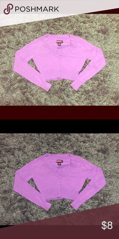 Buttoned Up Crop Sweater PRODUCT DETAILS: (slightly used condition) * Size Medium * 55% Cotton, 45% Polyester  * RN#: 94522 * Preferably for juniors Say What? Shirts & Tops