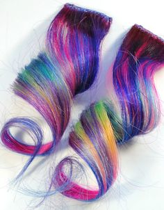 Purple Unicorn Hair Extension, totally trying this over break