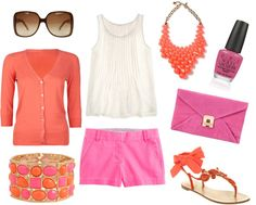 """""""Pink and Orange Summer!"""" by sbigg11 on Polyvore"""