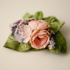 VERY vintage!   Amazingly detailed, handmade hair clip.