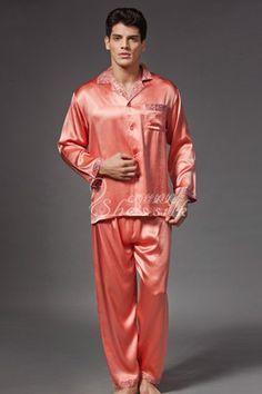 Mens Silk Pajamas, Satin Pajamas, Boys Pajamas, Pyjamas, Well Dressed Men, After Dark, Loungewear, Night Time, Nightwear