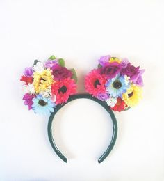 Floral Minnie Mouse Ears by FloralHeven on Etsy