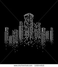 vector of graphical urban cityscape by kakin, via Shutterstock
