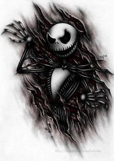 Download Free ... jack skellington tattoos jack tattoos gothic tattoos gothic art tattoo to use and take to your artist.