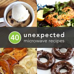 40 Things You Didn't Know You Could Make in a Microwave | Includes Gluten Free Recipes.  Dorm food? Yes!
