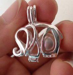 925 Silver Elephant Pearl  Gem Locket Pendant Gypsy Jewelry 5c3946e979ae