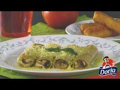 Canelones Doria rellenos de Pollo y Champiñones