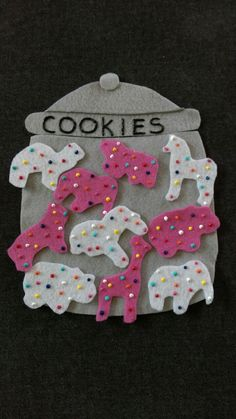 NEW COOKIES: Who Took the Cookies From the Cookie Jar Felt  Set // Flannel Board Story Set  // Preschool // Teacher Story // Counting //