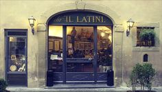 eat under the hanging hams of Il latini- a florence staple
