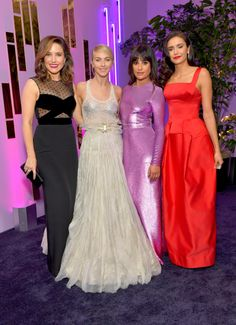 """leamichele-news: """"""""Lea Michele, Sophia Bush, Julianne Hough, and Nina Dobrev attend the 2017 InStyle and Warner Bros. Golden Globe Awards Post-Party (January 8, 2017) """" """""""